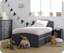 Lit Enfant Nature Gris Anthracite 90x190 cm