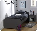 Pack Lit enfant Twist Gris Anthracite 90x200 cm